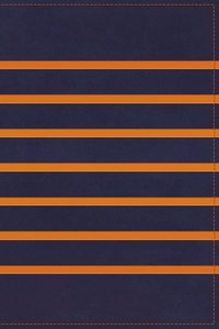 KJV Gift Bible Navy/Orange Stripe (Red Letter Edition)