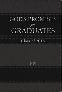 Gods Promises For Graduates: Class of 2016 - Black (Niv)