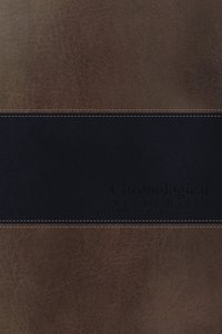 NKJV Chronological Study Bible Brown Navy (Signature Series)