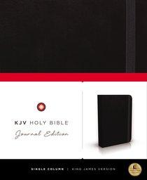 KJV Holy Bible Journal Black (Red Letter Edition)