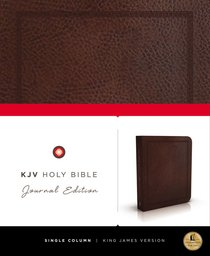 KJV Holy Bible Journal Brown Leathersoft (Red Letter Edition)