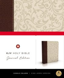 KJV Holy Bible Brown/Cream Journal Leathersoft (Red Letter Edition)