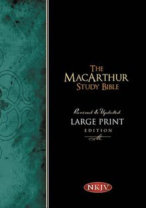 NKJV Macarthur Study Large Print (Black Letter Edition)