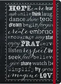 Impulse Journal: Hope, Pray, Love (Black/white)