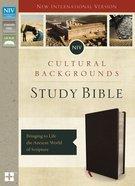 NIV Cultural Backgrounds Study Bible Black