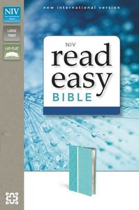 NIV Readeasy Bible Turquoise Italian Duo-Tone Large Print (Red Letter Edition)