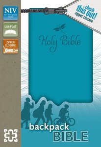NIV Backpack Zipper Bible Teal (Red Letter Edition)