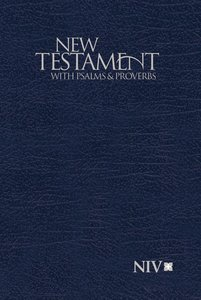 NIV Pocket New Testament With Psalms and Proverbs Blue (Black Letter Edition)