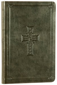 ESV Premium Gift Bible Olive Celtic Cross Design (Black Letter Edition)