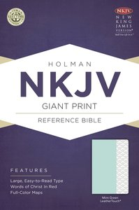 NKJV Giant Print Reference Bible Mint Green Leathertouch