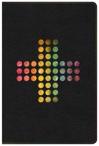 NIV Rainbow Study Bible Pierced Cross Thumb Indexed
