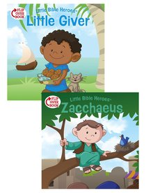 The Little Giver/Zacchaeus Flip-Over Book (Little Bible Heroes Series)