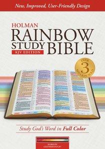 KJV Rainbow Study Bible Maroon Indexed