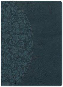 KJV Large Print Study Bible Dark Teal Indexed