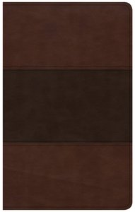 CSB Ultrathin Reference Bible Saddle Brown