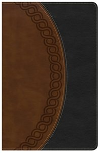 NKJV Large Print Personal Size Reference Bible Indexed Black/Brown Deluxe
