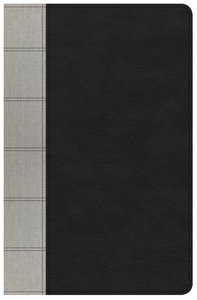 KJV Large Print Personal Size Reference Indexed Bible Black/Gray Deluxe