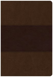 CSB Super Giant Print Reference Bible Saddle Brown Red Letter Edition