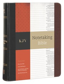 KJV Notetaking Bible Black/Brown