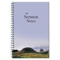 Spiral Notebook: Sermon Notebook (Mountain/tree/blue)