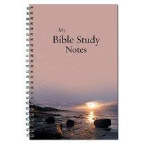 Spiral Notebook: My Bible Study Notes Sunset
