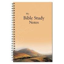 Spiral Notebook: My Bible Study Notes (Mountains/orange)