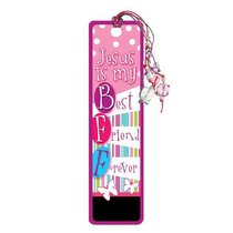 Bookmark With Beaded Tassel: Jesus is My Best Friend Forever