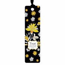 Bookmark With Ribbon: Trust, Black/Yellow/Orange
