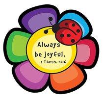 Magnet Laedee Bugg Die-Cut: Flower - Always Be Joyful