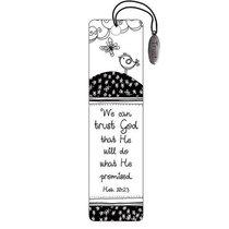 Bookmark: Trust Charm Black and White