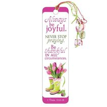 Bookmark With Beaded Tassel: Always Be Joyful