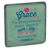 Rbg: Wooden Magnet With Hanging Tag: Grace Grey