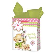 Gift Bag Medium: Especially For You! Teddy Bear With Flower