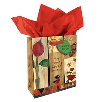 Gift Bag Small: Golden Blossoms: May Your Day Be Blessed