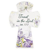 Small Cross Magnet: Trust in the Lord (Jeremiah 17:7)