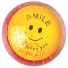 Water Ball Bouncy Ball With Red Glitter: Jesus Loves You, 6.5cm