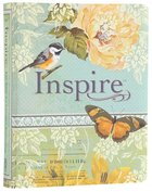 NLT Inspire Creative Journaling Bible Blue Cream