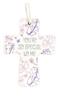 Cross Ceramic With Cord: Youre So Special: Natural Blessings (1 Cor 1:4)