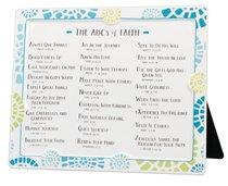 Word Study Plaque: Abcs of Faith, Blue/White/Yellow