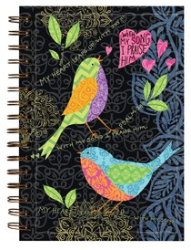 Garden Blessings Spiral Journal: Give Thanks, Psalm 28:7, My Heart Leaps Up With Joy!!!