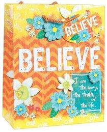 Gift Bag Medium: Believe, Matching Tissue Paper