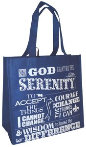Reusable Shopping Bag: Serenity Prayer (Blue With Blue Shoes)