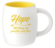 Ceramic Barrel Mug: Hope (Yellow)