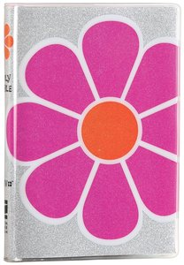 NIV Glitter Bible Pink Flower (Red Letter Edition)