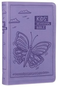 NIRV Kids Devotional Bible Lavender Butterfly