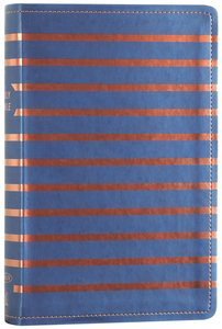 NKJV Gift Bible Blue/Orange Stripe (Red Letter Edition)