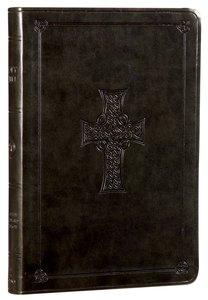ESV Large Print Value Thinline Bible Olive Celtic Cross (Black Letter Edition)