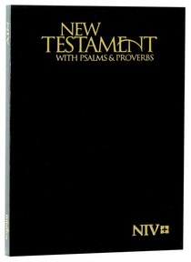 NIV Pocket New Testament With Psalms & Proverbs Black