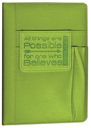 Hardcover Journal With Pen Holder: Green