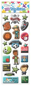 Puffy Stickers: Sports Series (1 Sheet Per Pack)